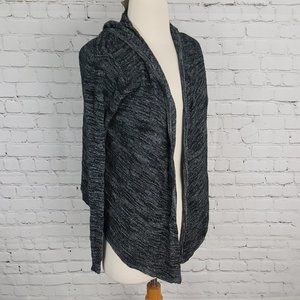 Bench Knit Hooded Sweater Black Gray XS